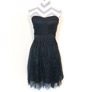 Madewell Broadway & Broome Black Lace Dress